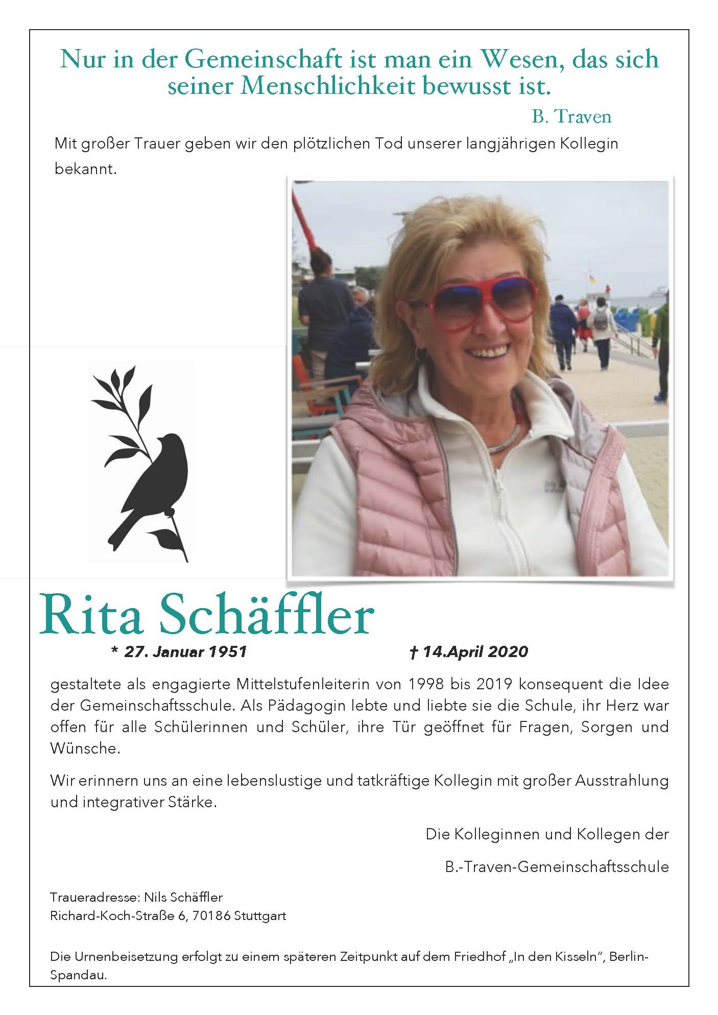 Rita Schäffler (1951 - 2020)